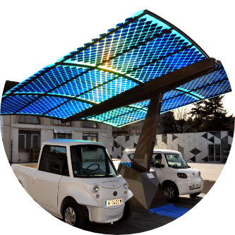 installation photovoltaïque sur ombrière de parking
