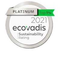 Ecovadis Platinum 2021 - Sustainability Rating